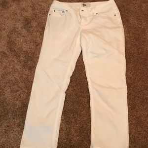 White Capri denim pants